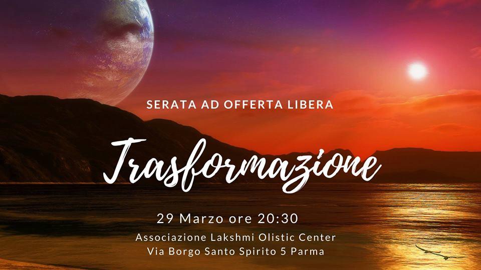 """Serata a tema """"Trasformazione"""""""