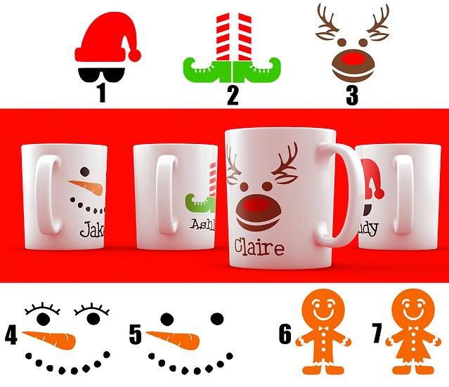 Christmas Character Mug Vinyl