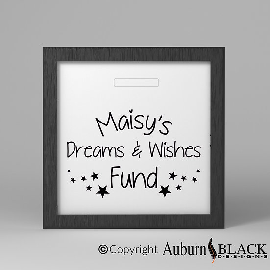 Dreams and Wished Fund Vinyl Decal with Stars
