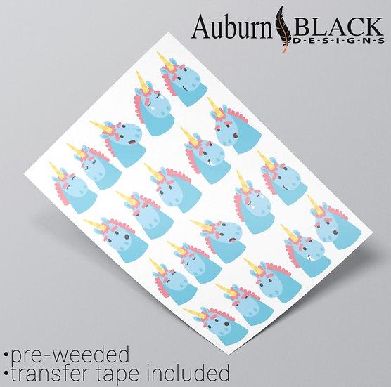 Unicorn Emoticon Stickers