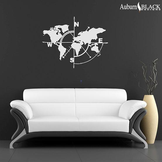 World Compass Wall Art