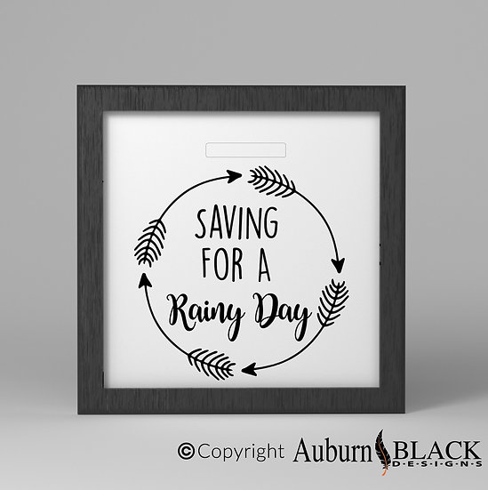 Saving for a Rainy Day Fund Vinyl Decal with arrows