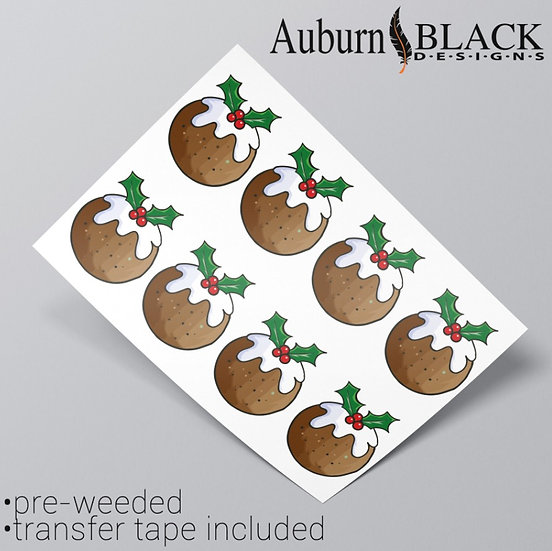 Christmas Pudding Stickers