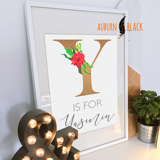 Personalised Name Print - A is for...