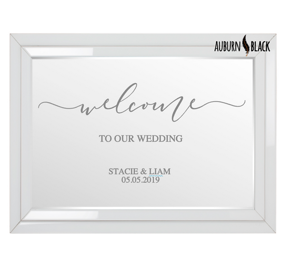 Welcome to our wedding - Swirl design