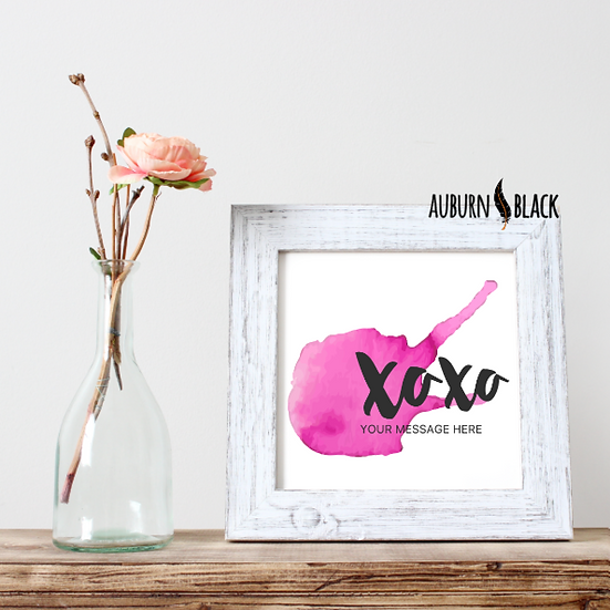 XOXO mini print - with your own message