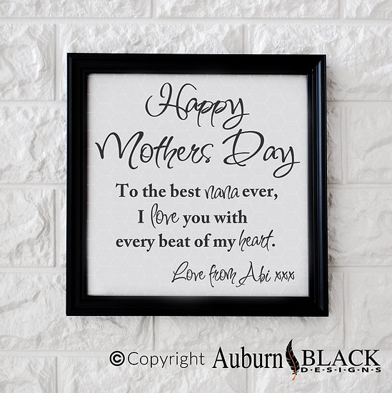 Happy Mothers Day Vinyl Decal