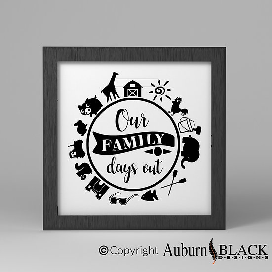 Our Family days out Frame Vinyl Decal