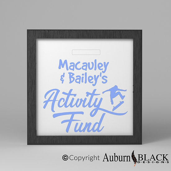 Personalised Activity Fund Frame Vinyl Decal