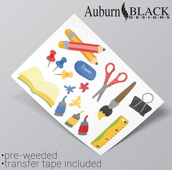 School Equipment Stickers