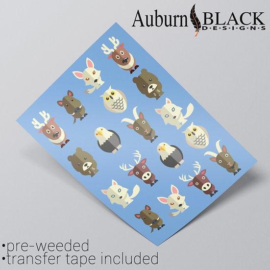 Miniature Animal Stickers