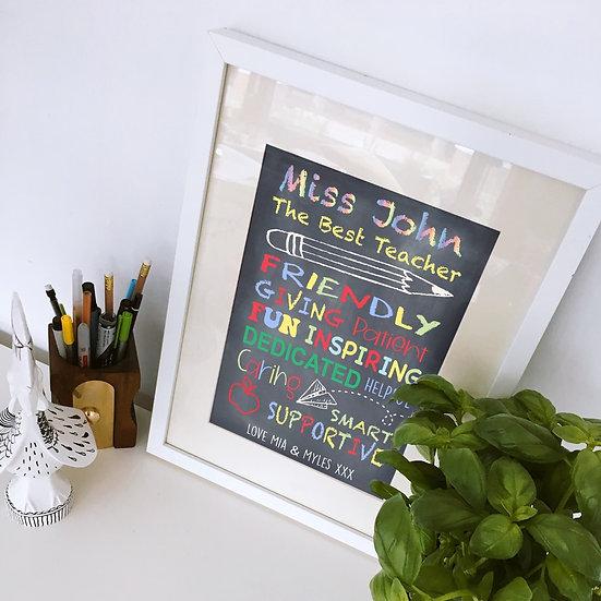 The Best Teacher Print