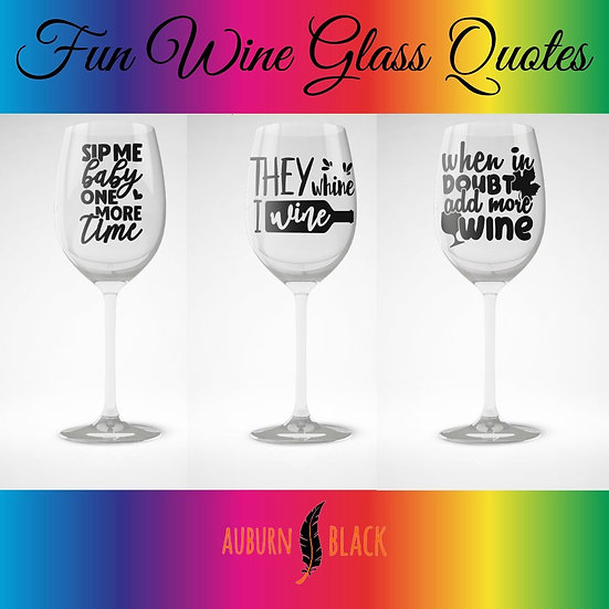 Fun wine glass vinyls - Set 2