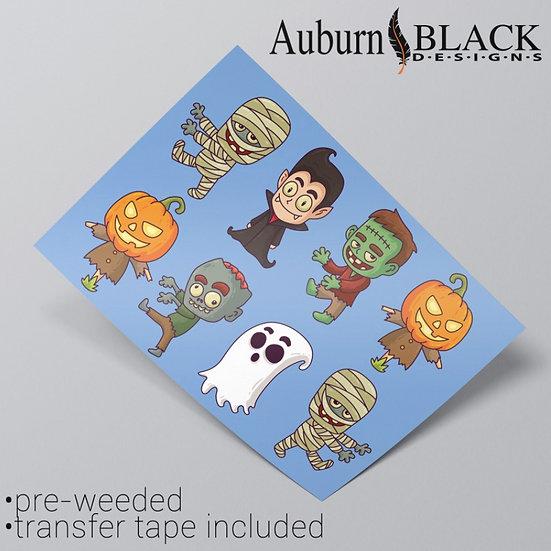 Halloween Characters Vinyl Stickers