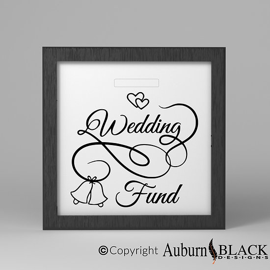 Wedding fund Frame Vinyl Decal with Bells