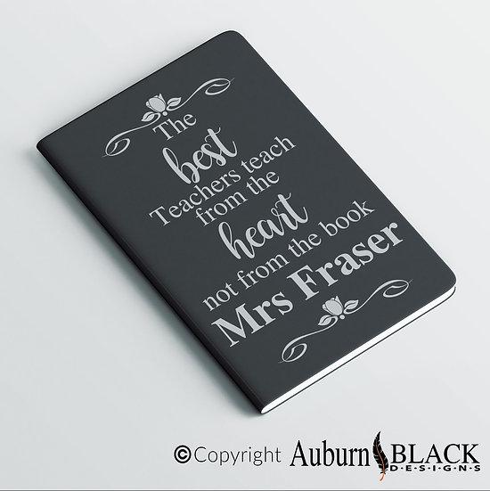 The Best Teachers (flowers) Teacher's Notebook Vinyl