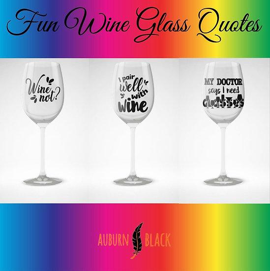 Fun wine glass vinyls - Set 4