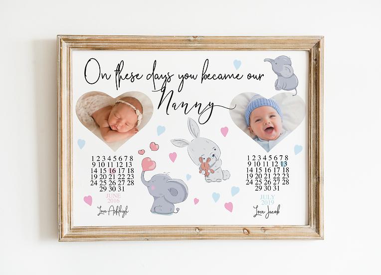 Personalised Baby Birth Print