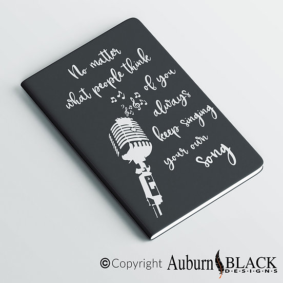 No Matter what people link... motivational notebook  Vinyl Decal