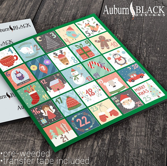 Pastel Advent Calendar Stickers Set 1