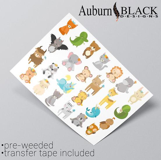 Cute Animals Sticker Set