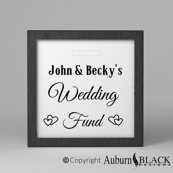 Personalised Wedding fund Frame Vinyl Decal