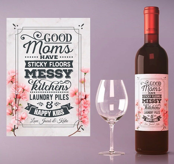 Personalised Wine or Champagne Bottle (Sticky floors)