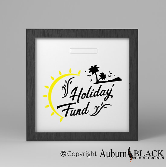 Holiday Fund Vinyl Decal with yellow sun