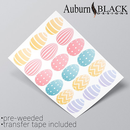 Pastel Easter Egg Stickers