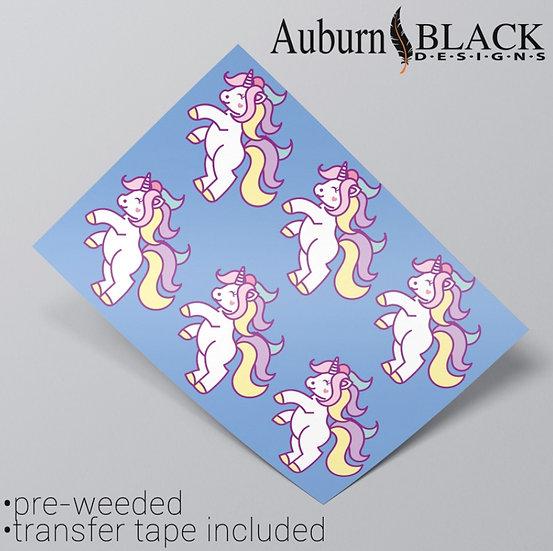 Pastel Unicorn Leaping Vinyl Stickers