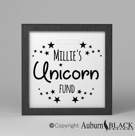 Child's Custom Unicorn Fund Vinyl Decal
