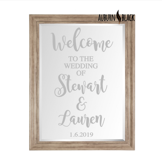 Welcome to the wedding of... - Swirl design