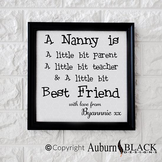 A Nanny is Vinyl Decal