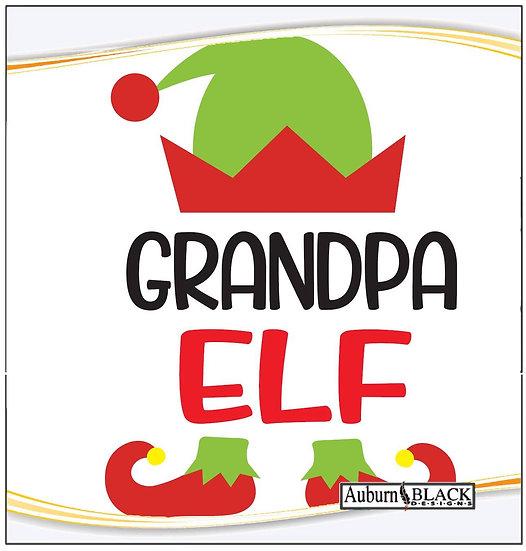 Grandpa Elf Heat Transfer Vinyl Sticker