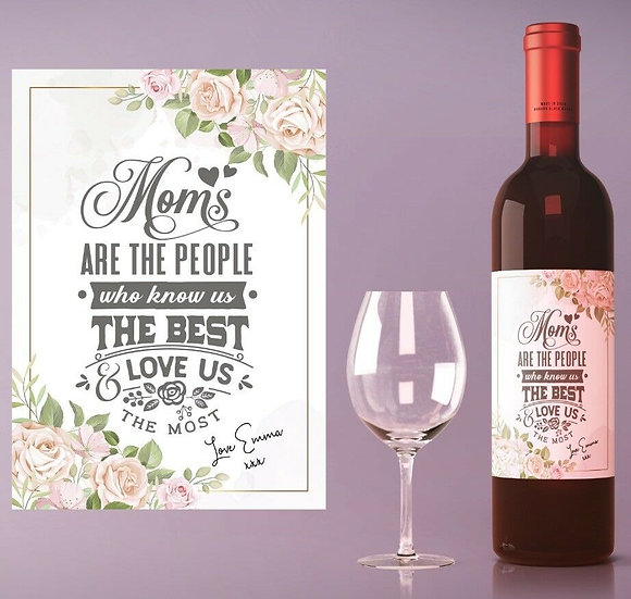 Personalised Wine or Champagne Bottle (Love us the most)