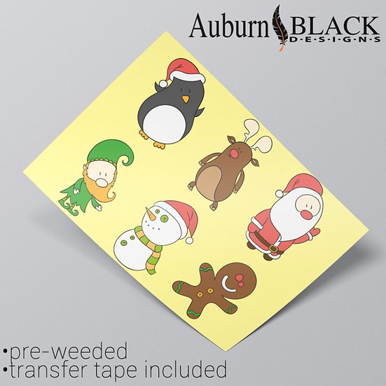 Character Christmas Stickers