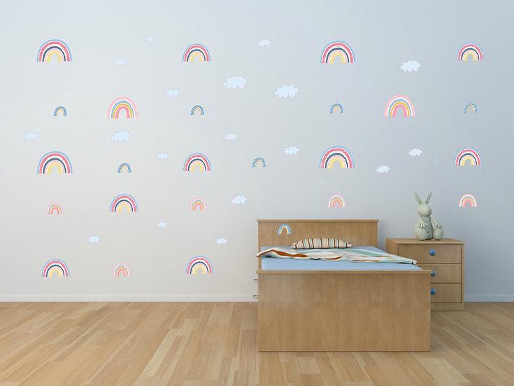 Rainbow Wall Art Stickers