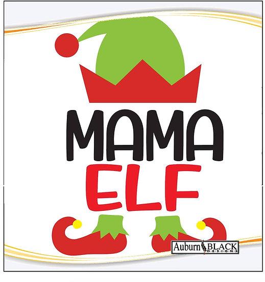 Mama Elf Heat Transfer Vinyl Sticker