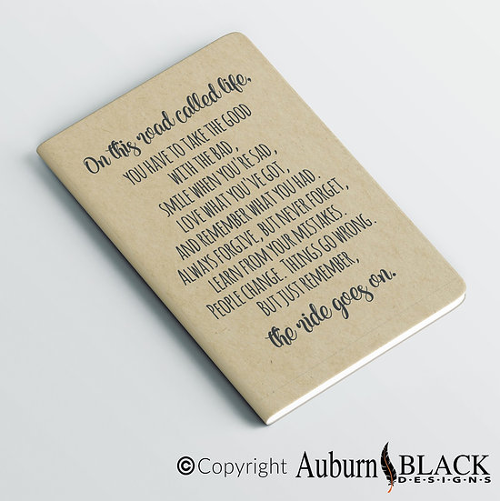 On this road called life... notebook Vinyl Decal