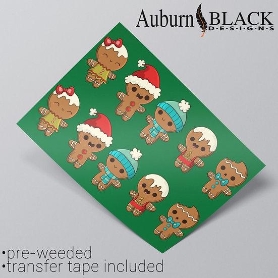 Gingerbread Man Vinyl Stickers