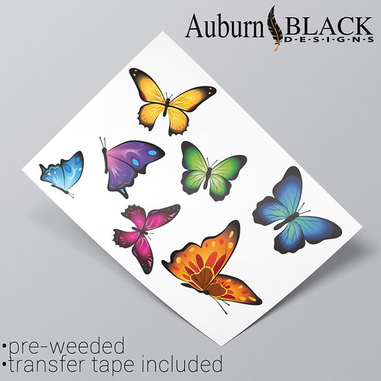 Colourful Butterflies Vinyl Stickers