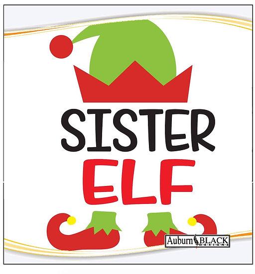 Sister Elf Heat Transfer Vinyl Sticker