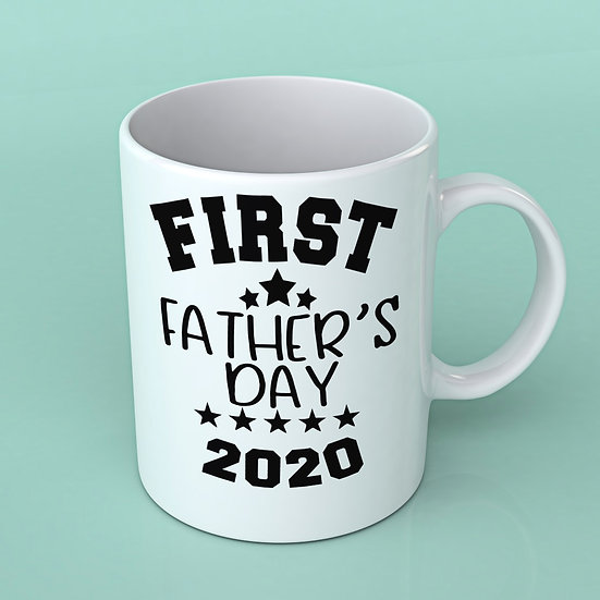 First father's day vinyl mug decal