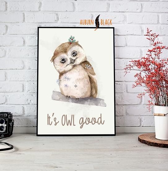 It's OWL good cute Print