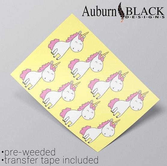 Happy Unicorn Vinyl Stickers