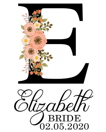 Personalised floral lettering set 1