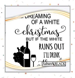 I'm Dreaming of a White Christmas vinyl decal