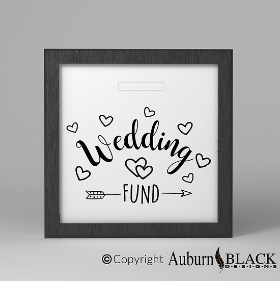 Wedding Fund Frame Vinyl Decal