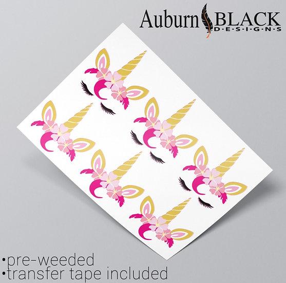 Unicorn Eyelash Pink Vinyl Stickers