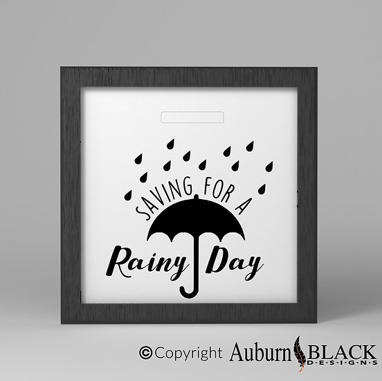 Saving for a Rainy Day Fund Vinyl Decal